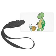 turtle with pet snail.png Luggage Tag