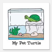 """pet turtle copy.jpg Square Car Magnet 3"""" x 3"""""""