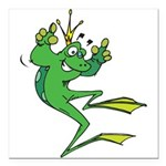 funny prince toad.png Square Car Magnet 3
