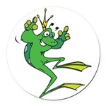 funny prince toad.png Round Car Magnet