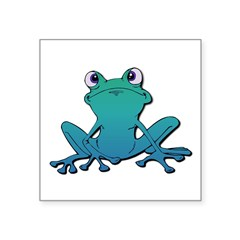 tree frog.psd Square Sticker 3