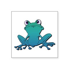 tree frog.psd Square Sticker 3
