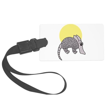 armadillo cute little.png Large Luggage Tag