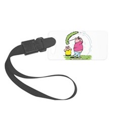 funny golfing pig.png Luggage Tag