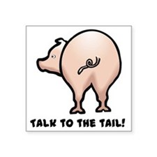 """talk to the tail.png Square Sticker 3"""" x 3"""""""