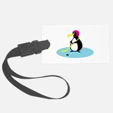 cute hockey penguin.png Luggage Tag