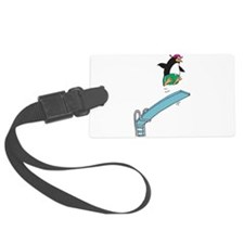 funny diving penguin.png Luggage Tag