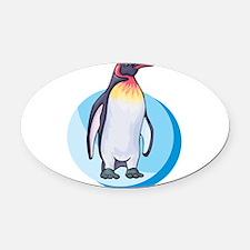 king penguin.png Oval Car Magnet