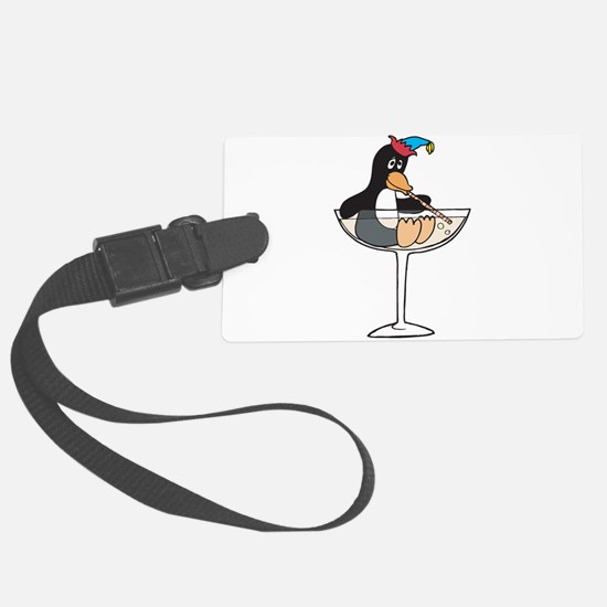 partying penguin.png Large Luggage Tag