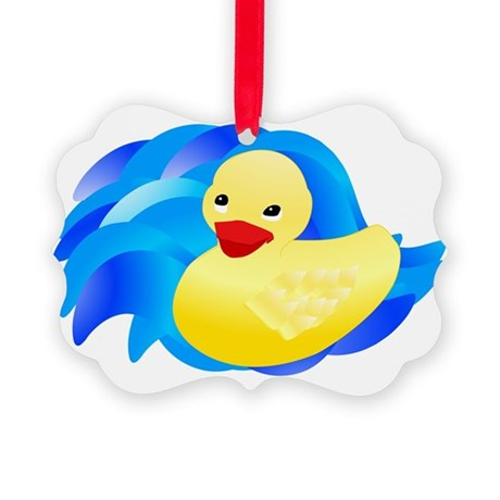ducky.jpg Picture Ornament
