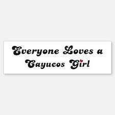 Cayucos girl Bumper Bumper Bumper Sticker