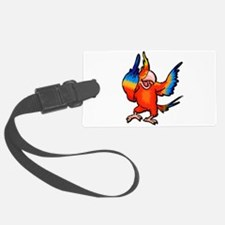 parrot flipping bird.psd Luggage Tag