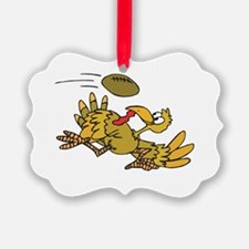 football playing turkey.png Ornament