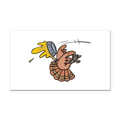 funny pie face turkey.png Rectangle Car Magnet
