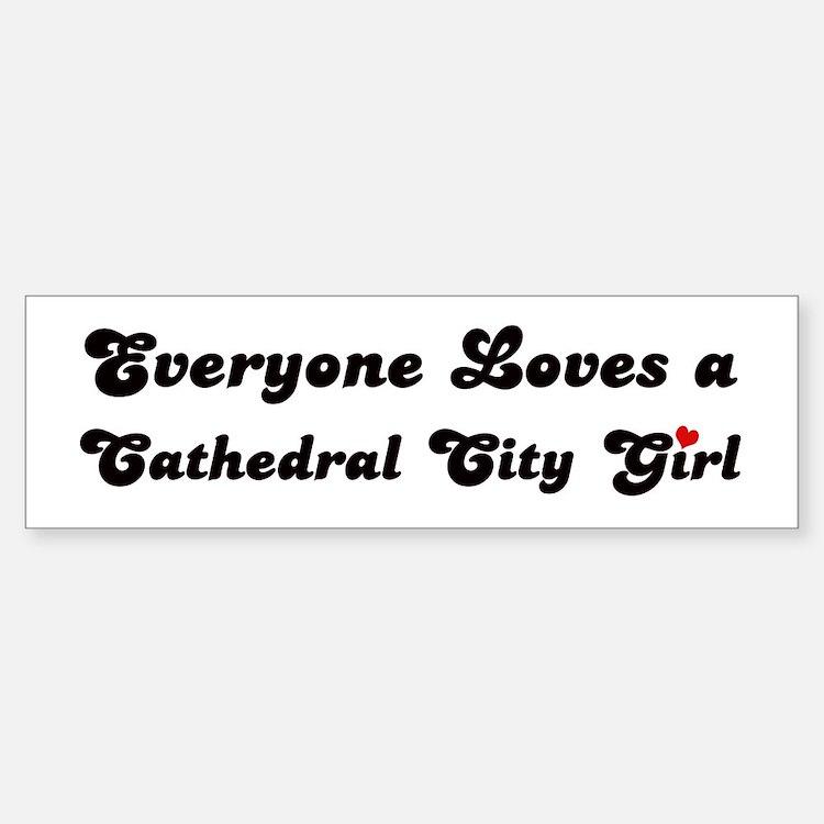 Cathedral City girl Bumper Bumper Bumper Sticker