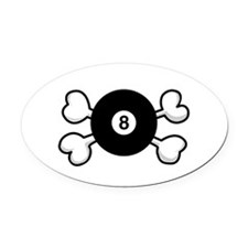 eight ball.png Oval Car Magnet