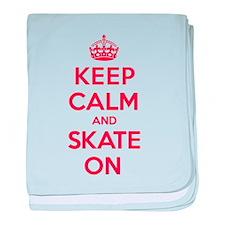 Keep Calm Skate baby blanket