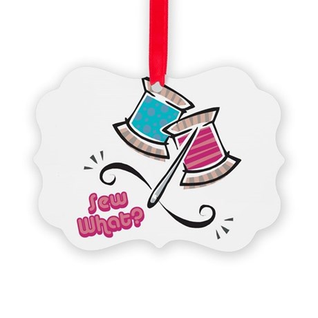 sew what.png Picture Ornament
