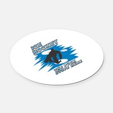 1puckstops here copy.png Oval Car Magnet