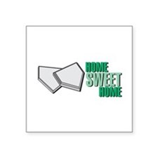 """home plate copy.jpg Square Sticker 3"""" x 3"""""""