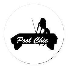 pool chic copy.jpg Round Car Magnet