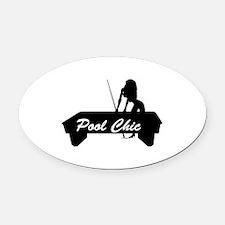 pool chic copy.jpg Oval Car Magnet
