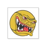 angry tennisball.jpg Square Sticker 3