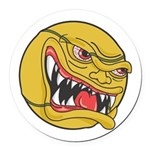 angry tennisball.jpg Round Car Magnet