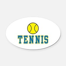 tennis graphic copy.jpg Oval Car Magnet