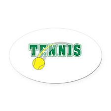 tennis word2 copy.jpg Oval Car Magnet