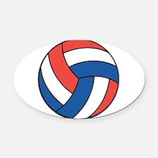 american volley copy.jpg Oval Car Magnet