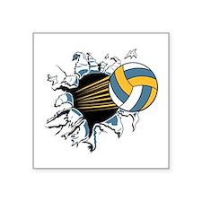 "volley ball rip thru copy.jpg Square Sticker 3"" x"