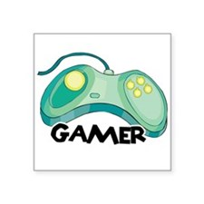 """gamer.png Square Sticker 3"""" x 3"""""""