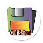 old school floppy disk copy.jpg Round Car Magnet