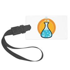 2-science beaker clock with numbers-01.png Luggage Tag