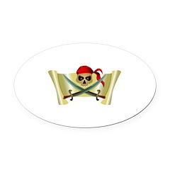 pirate scroll.jpg Oval Car Magnet