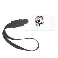 brain exposed evil skull.png Luggage Tag