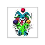 evil juggling clown.png Square Sticker 3