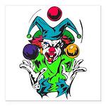 evil juggling clown.png Square Car Magnet 3