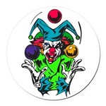 evil juggling clown.png Round Car Magnet