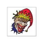 laughing evil clown.png Square Sticker 3