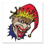 laughing evil clown.png Square Car Magnet 3