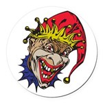 laughing evil clown.png Round Car Magnet