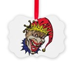 laughing evil clown.png Picture Ornament