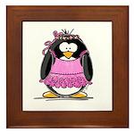 Ballet Penguin Framed Tile