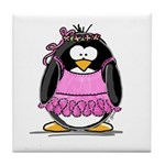 Ballet Penguin Tile Coaster