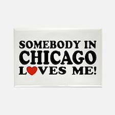 Somebody in Chicago Loves Me Rectangle Magnet