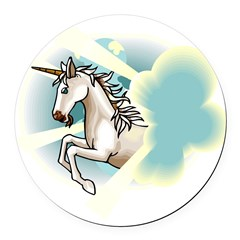 unicorn.jpg Round Car Magnet