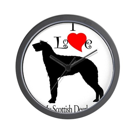 Scottish Deerhound Wall Clock