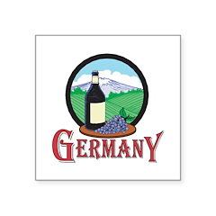 vintage germany design copy.jpg Square Sticker 3